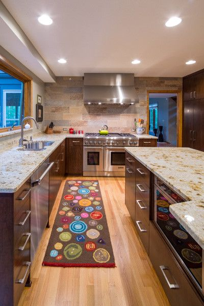 Knockdown Ceiling for a Transitional Kitchen with a Kitchen Remodel and Minnetonka Kitchen Remodel by Karkela Construction