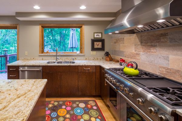 Knockdown Ceiling for a Transitional Kitchen with a Twin Cities and Minnetonka Kitchen Remodel by Karkela Construction