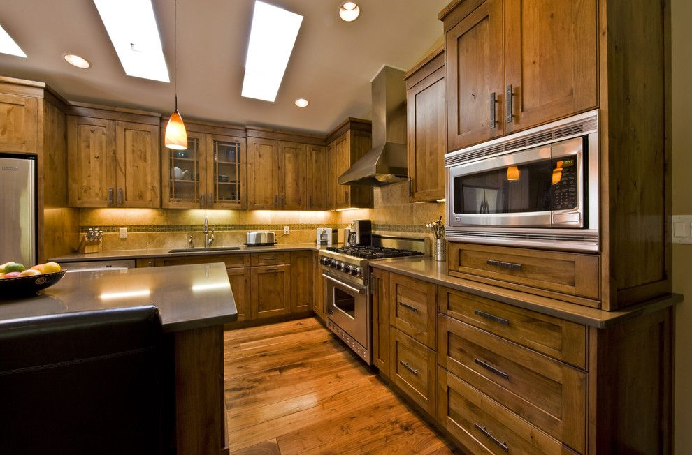 Knotty Alder Cabinets For A Contemporary Kitchen With A Contemporary And Glen Crescent
