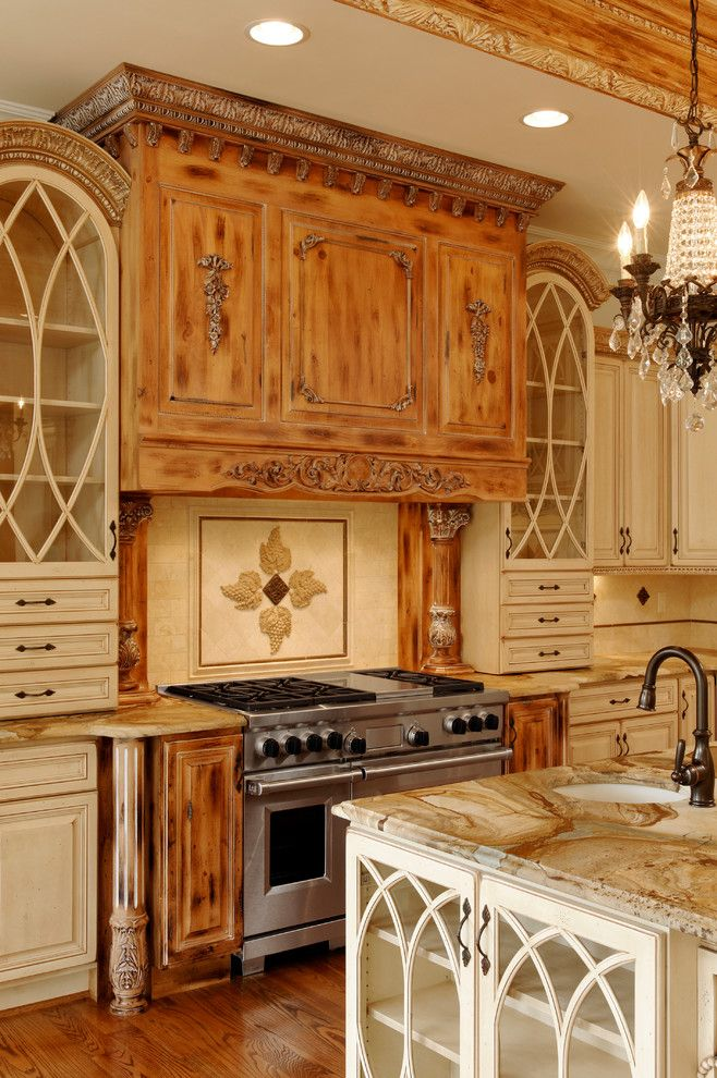 Knotty Alder Cabinets for a Traditional Kitchen with a Faucet and Kitchen Remodel #4   Rockville Md by Ferguson Bath, Kitchen & Lighting Gallery