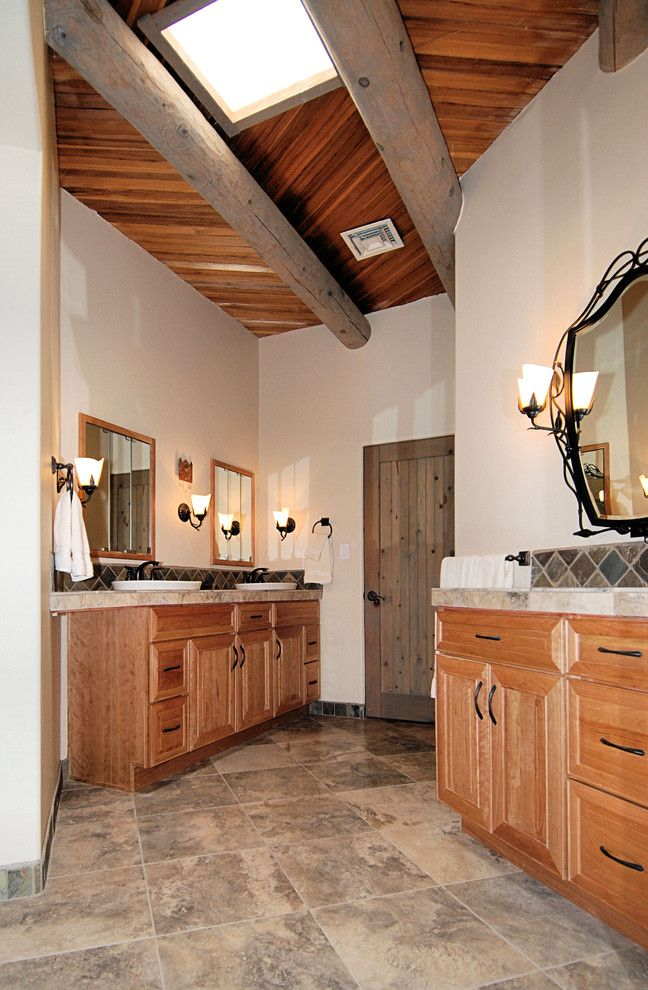 Knotty Pine for a Rustic Bathroom with a Rustic and Zenteriors by Zenteriors by Camian Larson