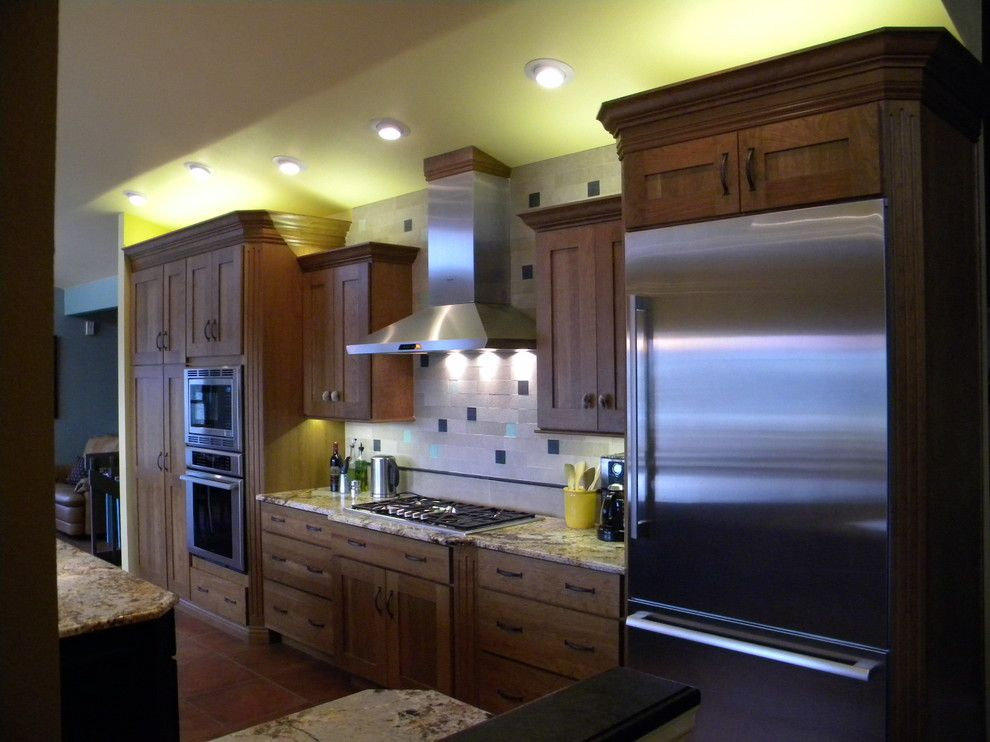 Koch Cabinets for a Contemporary Kitchen with a Koch Cabinets and Asleson Kitchen Remodel, Colorado Springs by Rjl Designs Llc