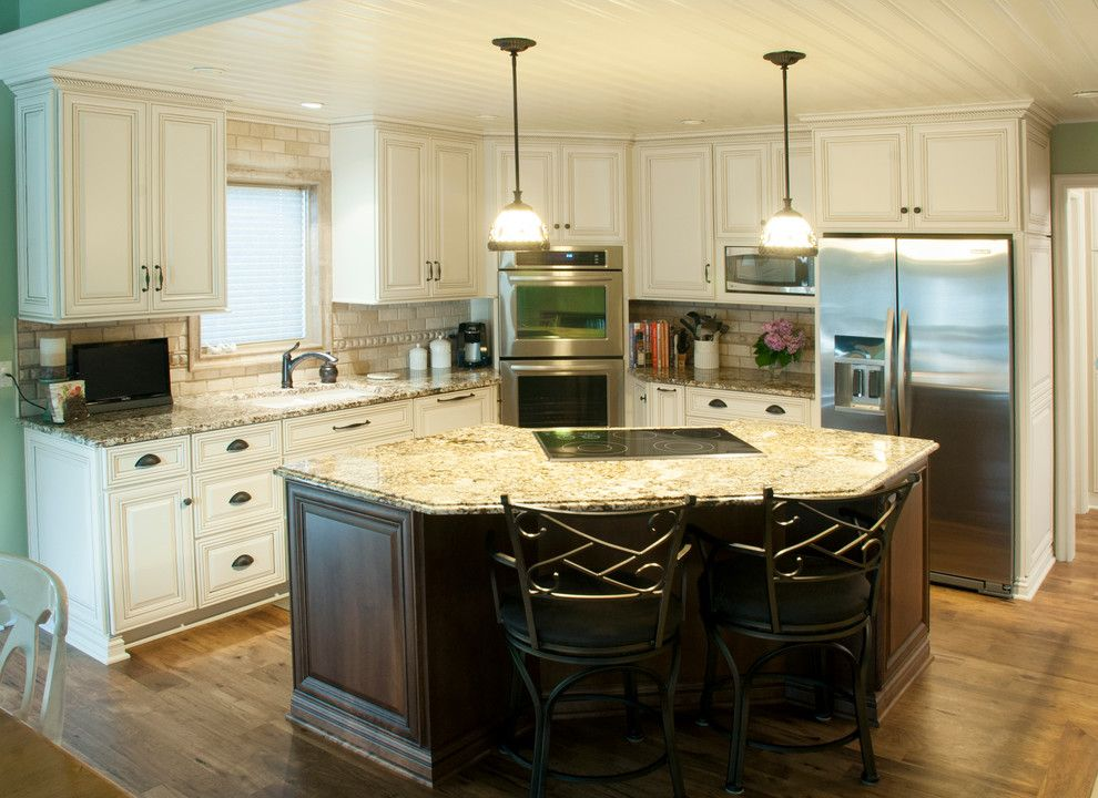 Koch Cabinets for a Traditional Kitchen with a Large Isand and Koch Cabinets by Kinetic Kitchen and Bath