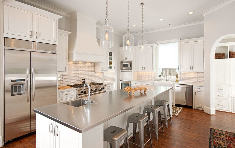 Kodiak Steel Homes for a Contemporary Kitchen with a Recessed Lighting and Kitchens by Holland Rogers Company, Llc