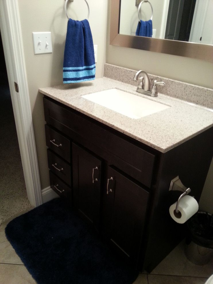 Kountry Wood Products for a Contemporary Bathroom with a Wilke Window Door and Kountry Wood Products