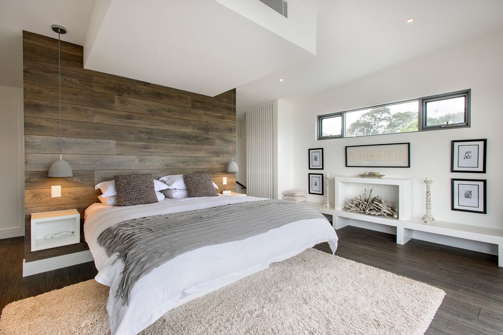 Kountry Wood Products for a Contemporary Bedroom with a Wood Paneling and South Coogee   House by Capital Building