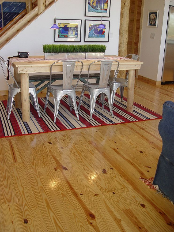 Kountry Wood Products for a Rustic Dining Room with a Pendant Lights and Wood, Naturally by Wood, Naturally