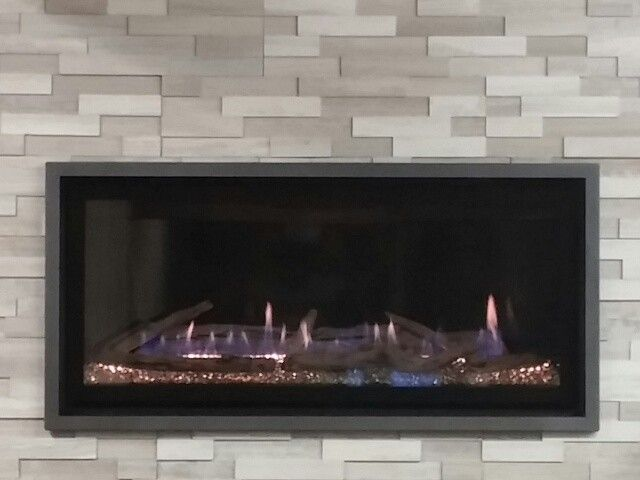 Kozy Heat for a Contemporary Living Room with a Contemporary and Kozy Heat Slayton 36 with Erthcoverings Natural Stonespanels by the Fireplace People