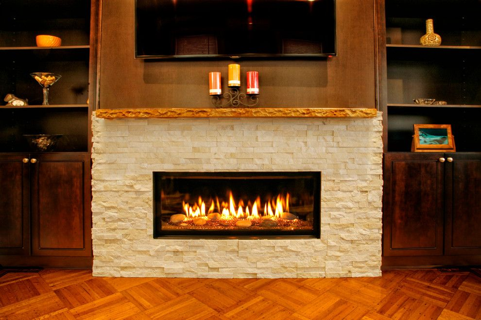 Kozy Heat for a Contemporary Living Room with a Modern Fireplace and Modern Fireplace in a Brooklyn Brownstone by Ember Fireplaces