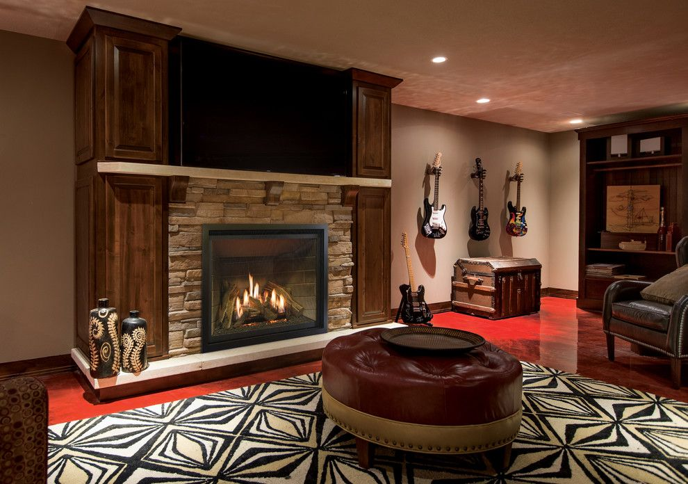Kozy Heat for a Eclectic Family Room with a Warm and Direct Vent Fireplces by Kozy Heat Fireplaces