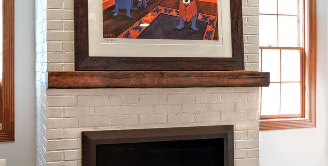 Kozy Heat for a Eclectic Living Room with a Fireplace and Painted Brick Fireplace by Ember Fireplaces