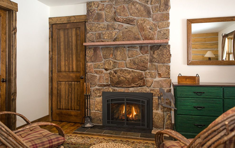 Kozy Heat for a Farmhouse Living Room with a Gas Insert and Gas Insert Fireplaces by Kozy Heat Fireplaces