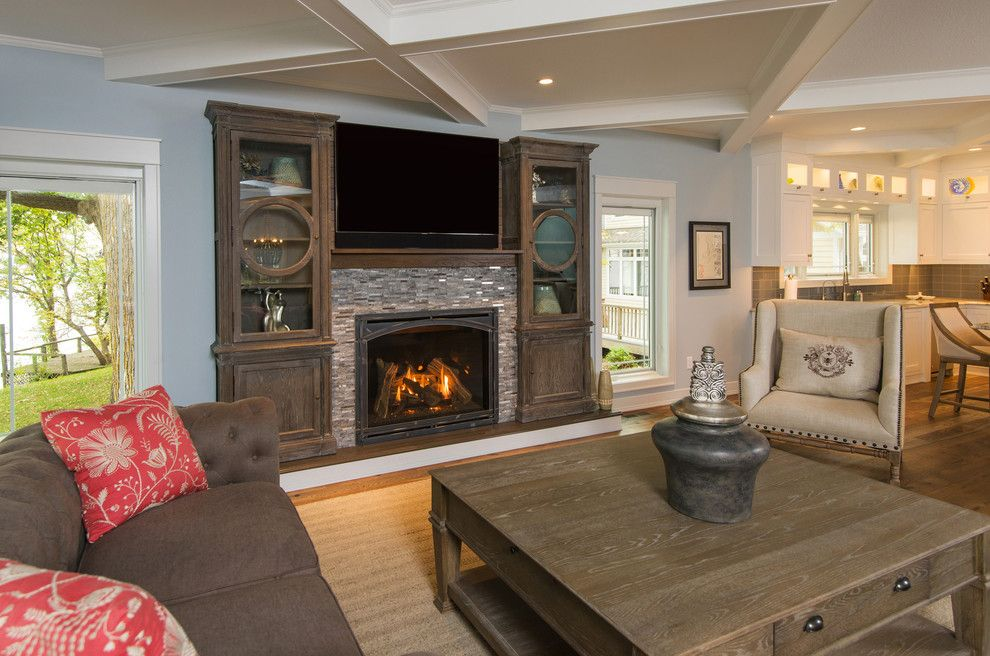 Kozy Heat for a Traditional Living Room with a Living Room and Direct Vent Fireplces by Kozy Heat Fireplaces