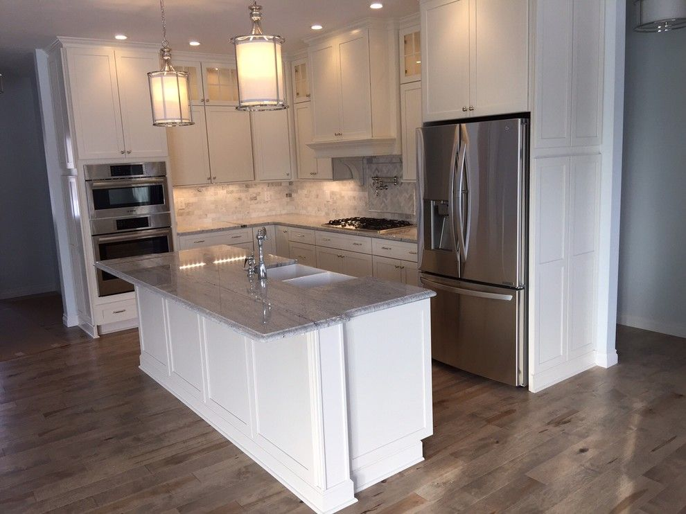 Kraft Maid for a Craftsman Kitchen with a Kraftmaid and Neutral Craftsman Kitchen by Innovations by Vp