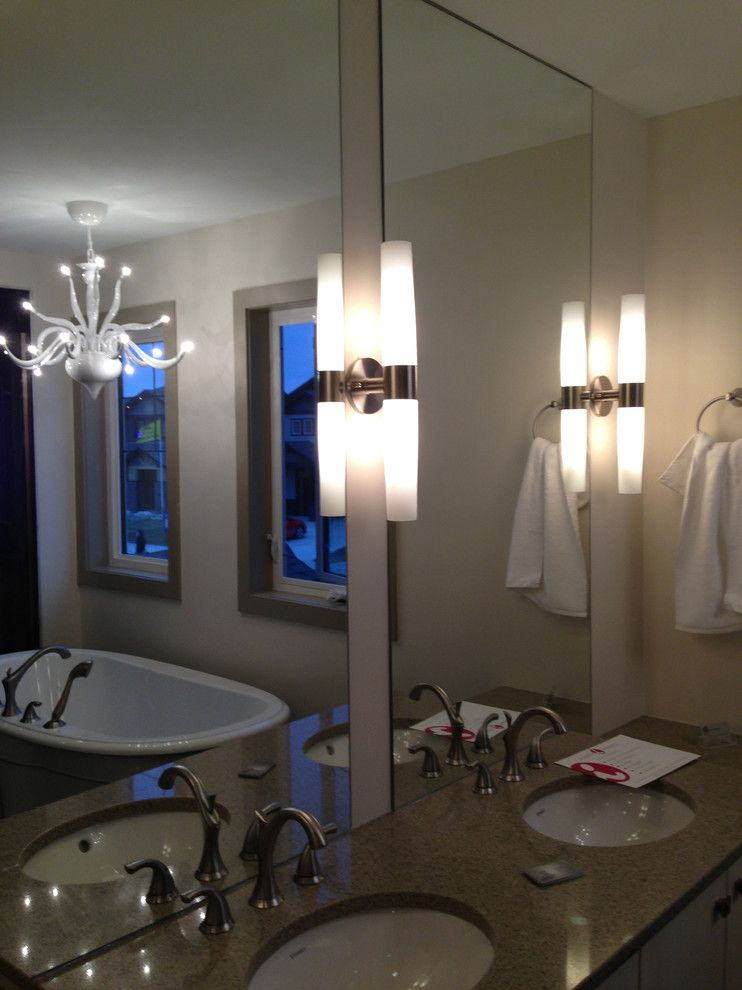 Kuzco for a Modern Bathroom with a Ensuite and 2013 Parade of Homes by Super Lite Lighting