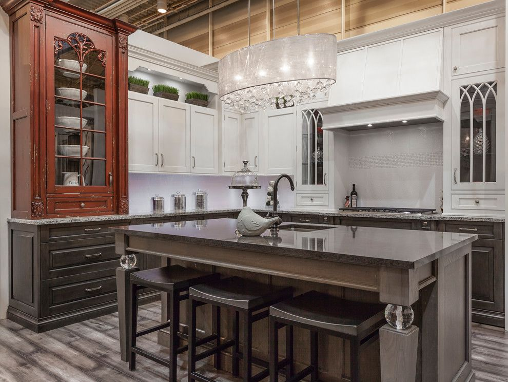 Kuzco for a Traditional Kitchen with a Traditional and Kbis 2013   Transitional Display by Elmwood Fine Custom Cabinetry