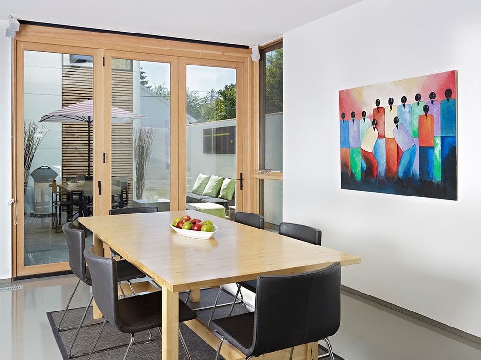 La Cantina Doors for a Modern Dining Room with a Bi Folding Door and Lg House by Lacantina Doors