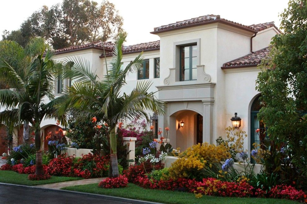 La Habra Stucco for a Mediterranean Exterior with a Bright Colors and Barnard Residence by Martha Picciotti