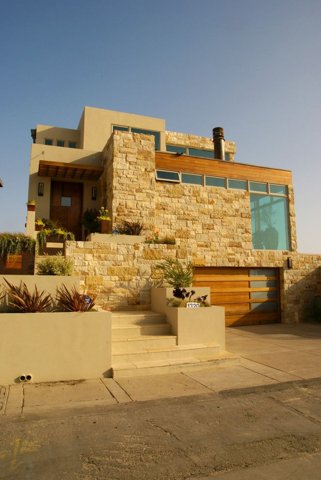 La Habra Stucco for a Southwestern Exterior with a Driveway and Sagamore House by Martha Picciotti