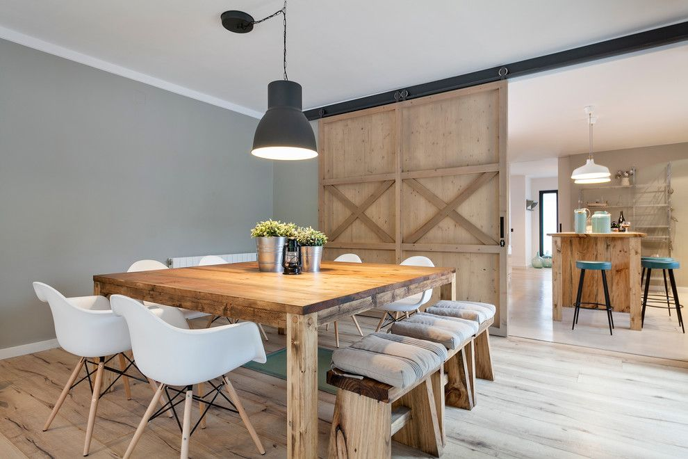 La Mesa Lumber for a Farmhouse Dining Room with a Wood Dining Bench and Crespià by Dröm Living