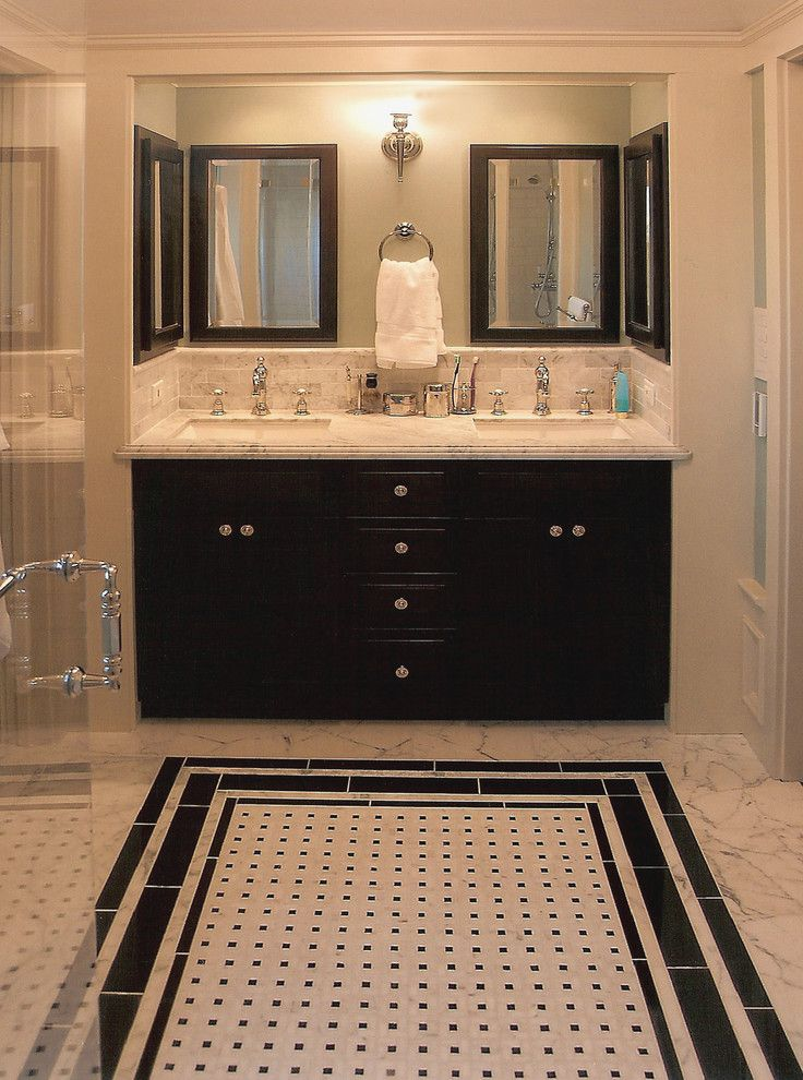 Lacy Bella Designs for a Traditional Bathroom with a Double Sink and Master Bathroom by Acanthus Architecture & Design, San Francisco, Ca