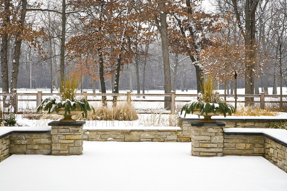 Lakeland Yard and Garden for a  Landscape with a Snow and Glencoe Residence Winter 3 by the Garden Consultants, Inc.