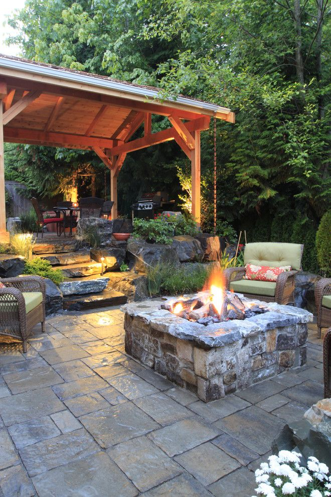 Landscapers Supply for a Traditional Patio with a Forest and Alderwood Landscape by Alderwood Landscape Architecture and Construction
