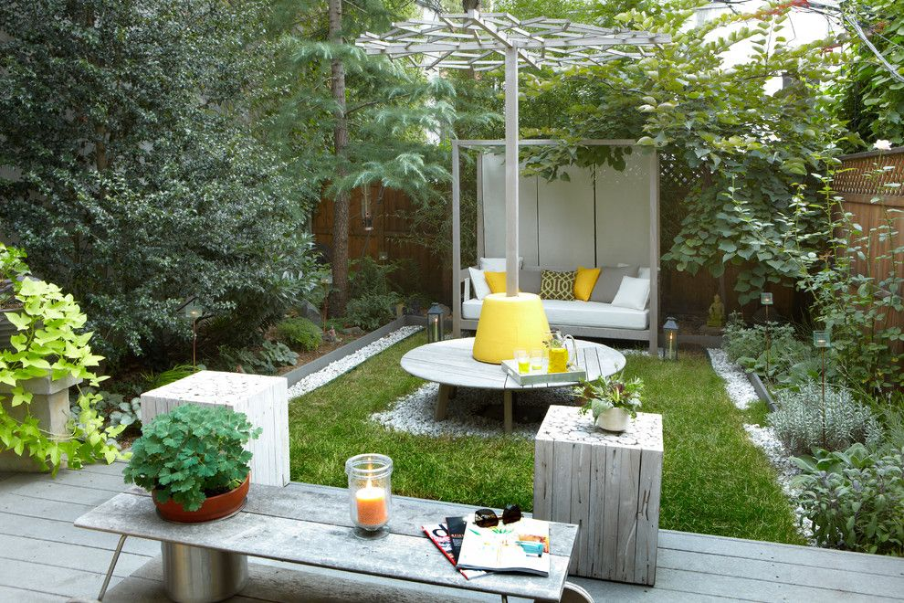 Landscaping Ideas for Small Yards for a Contemporary Landscape with a Decorative Gravel and 1 by Jarret Interior Design