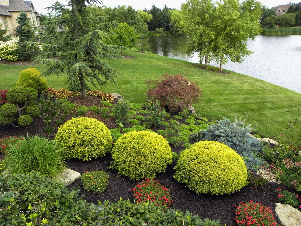 Landscaping Ideas for Small Yards for a Traditional Landscape with a Lake Side and Creating Enclosure and Shade with Landscaping in Your Front Yard by Smalls Landscaping