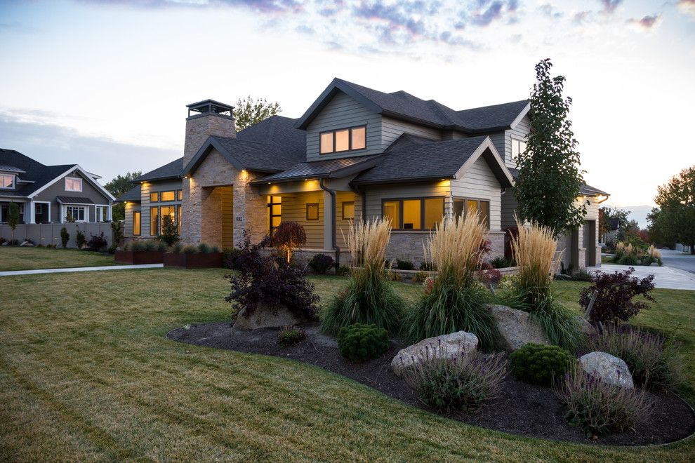 Landscaping Ideas for Small Yards for a Transitional Landscape with a Front Yard Landscaping and Summer Havest 2 by Shaw Design Group