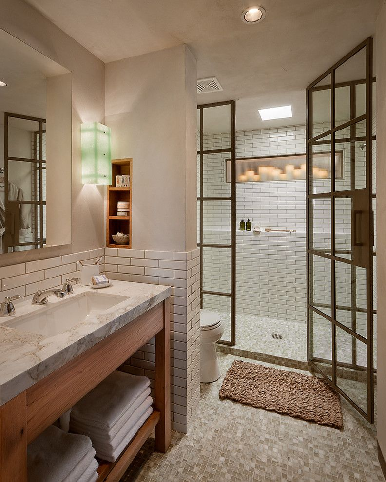 Lansing Building Products for a  Bathroom with a Steel Shower Enclosure and Steel Projects by Janus Custom Building Products