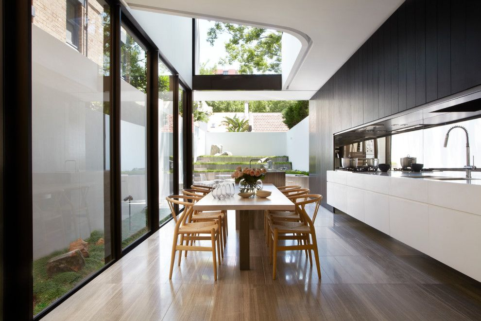 Lansing Building Products for a Contemporary Dining Room with a Minimal and Tusculum Residence by Smart Design Studio
