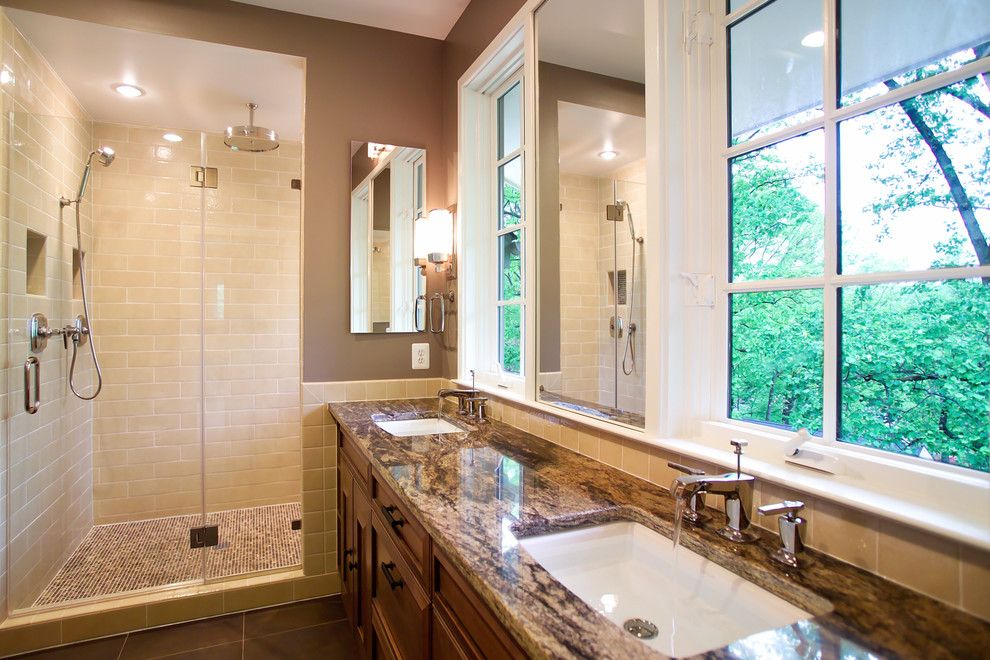 Lapidus Granite for a Traditional Bathroom with a Bathroom Mirror and N. Quincy Street by D.w. Dively Construction Services