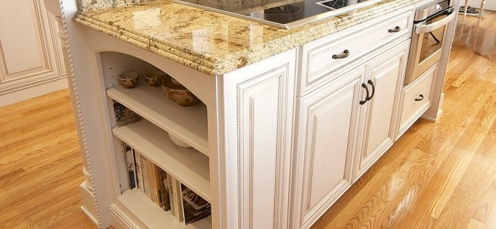 Lapidus Granite for a Traditional Kitchen with a Dynasty and Elegant Kitchen Remodel - an Induction Cooktop and Microwave Drawer. by Michael James Design, Inc.