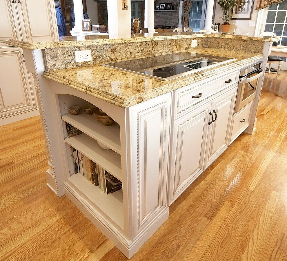 Lapidus Granite for a Traditional Kitchen with a Dynasty and Elegant Kitchen Remodel   an Induction Cooktop and Microwave Drawer. by Michael James Design, Inc.