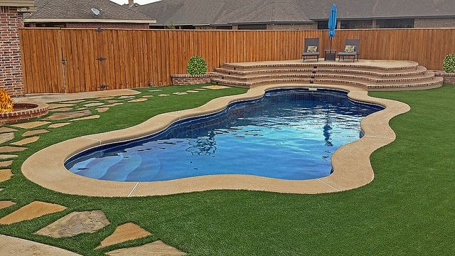Latham Pool Products for a Modern Spaces with a Backyard and Dealer Favorites by Latham Pool Products Inc.