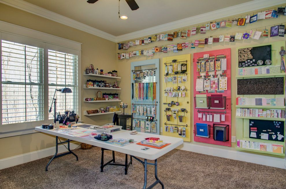 Lavalley Building Supply for a Traditional Home Office with a Craft Room and the Greenwich by Collins Design Build, Inc.