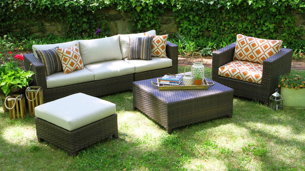 Lawrance Furniture for a  Patio with a White Cushions and Ae Outdoor by Ae Outdoor