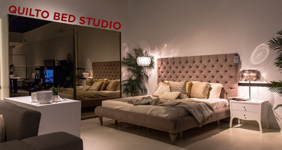 Lazzoni Furniture for a Modern Bedroom with a Sofa and Showroom Studio by Lazzoni Usa Inc