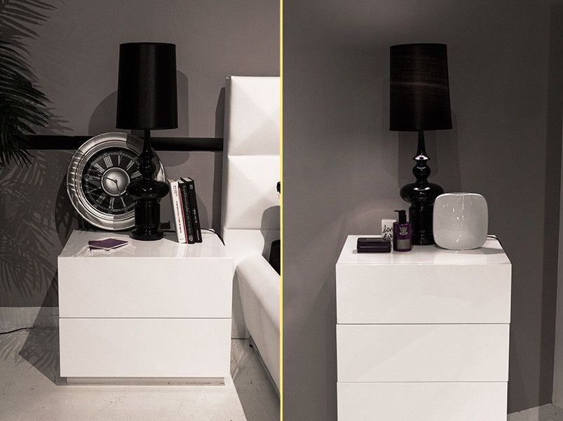Lazzoni Furniture for a Modern Bedroom with a Under Bed Storage Box and Showroom Studio by Lazzoni Usa Inc
