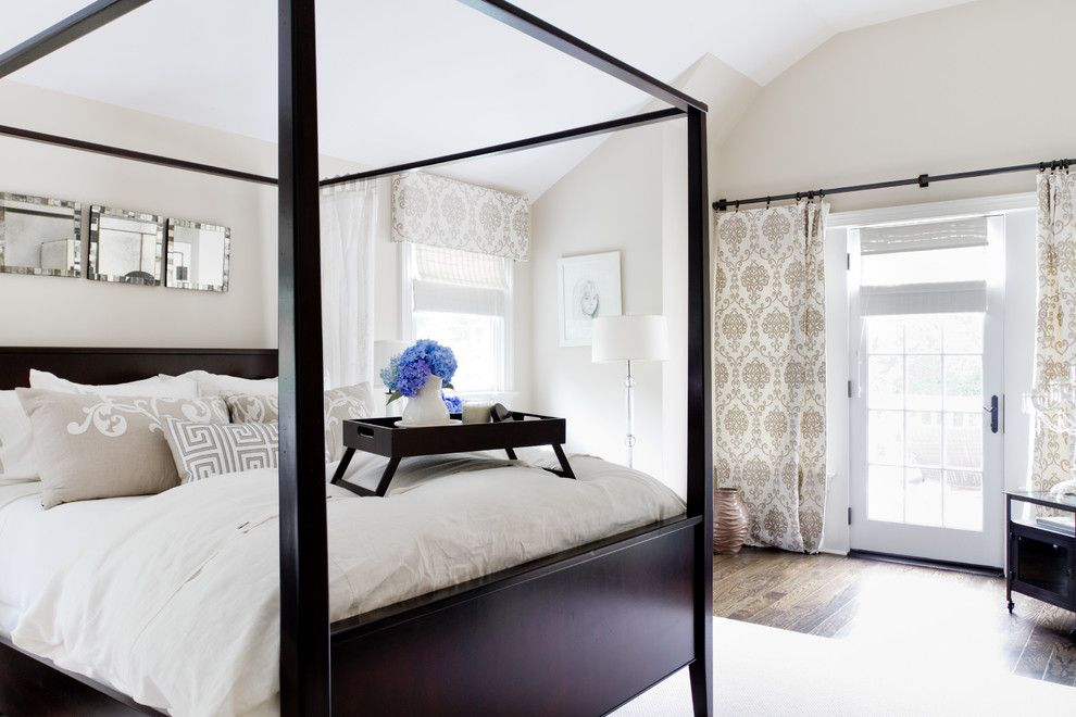 Lee Jofa for a Traditional Bedroom with a Curtain Rings and My Houzz: Iris Dankner by Rikki Snyder