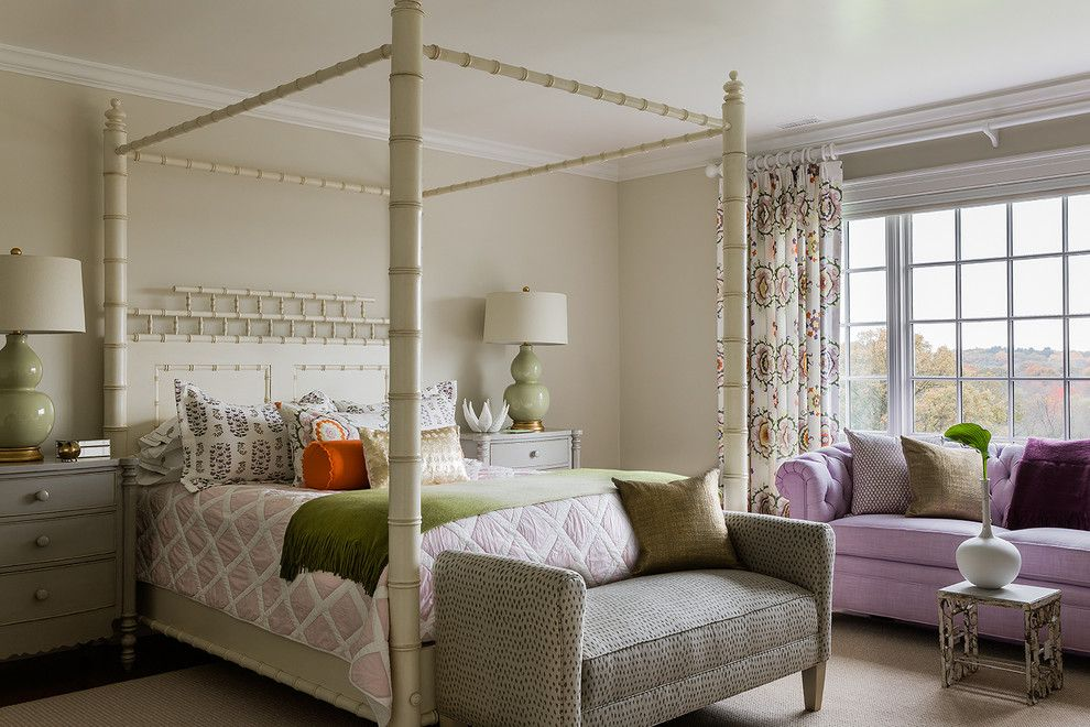 Lee Jofa for a Traditional Kids with a Table Lamp and Teen Girl's Room by Katie Rosenfeld Design
