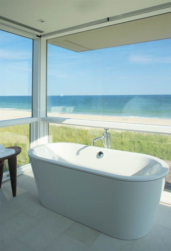 Lefroy Brooks for a Beach Style Bathroom with a Waterfront and Stelle Lomont Rouhani Architects by Stelle Lomont Rouhani Architects