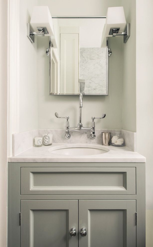 Lefroy Brooks for a Traditional Bathroom with a Bathroom and Fulham Garden Flat by Lisette Voute Designs