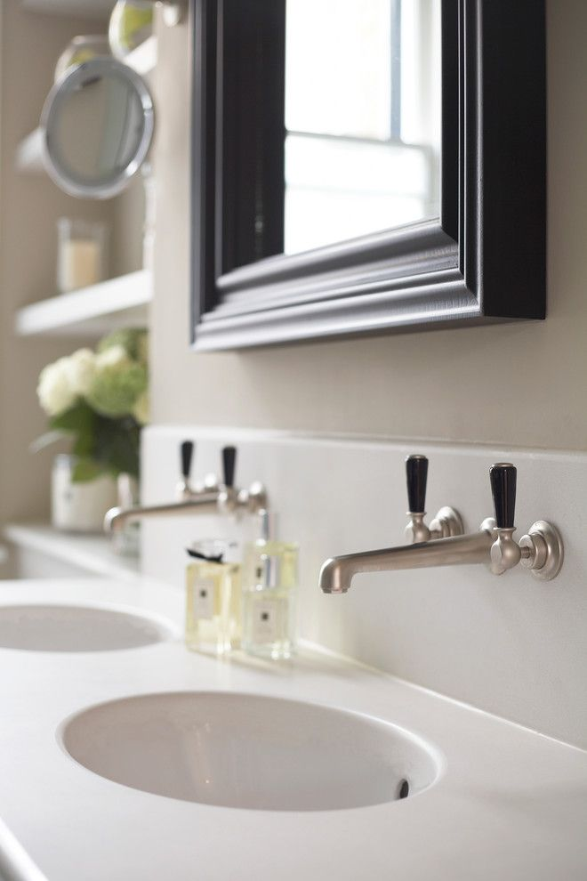 Lefroy Brooks for a Traditional Bathroom with a Satin Nickel and Dunsany Road by Laura Hammett Ltd