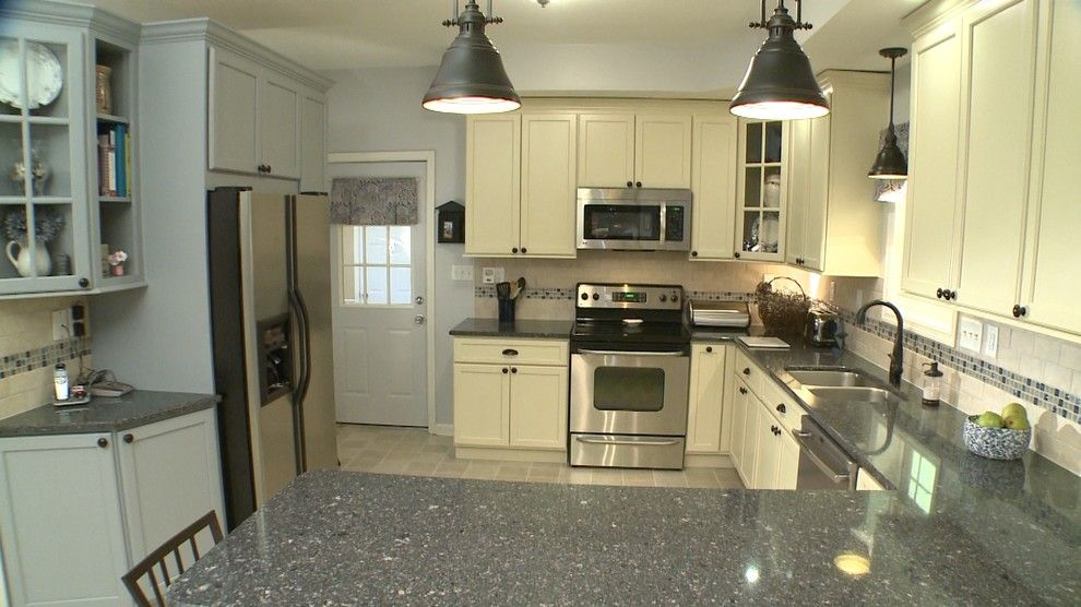 Legacy Cabinets for a Transitional Kitchen with a Tile Backsplash and Heather B by Curtis Lumber Ballston Spa