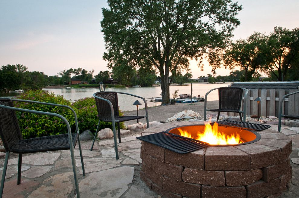 Legacy Homes Omaha for a Contemporary Landscape with a Outdoor Seating and Patio and Fire Pit   Summer 2011 by Sun Valley Landscaping