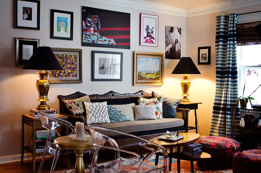 Legacy Homes Omaha for a Eclectic Living Room with a Gold Lamp and Birdhouse Design by Jessica Mckay
