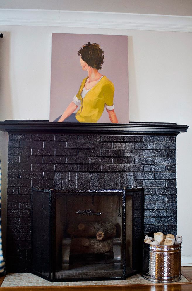 Legacy Homes Omaha for a Eclectic Living Room with a Tile Hearth and Birdhouse Design by Jessica Mckay