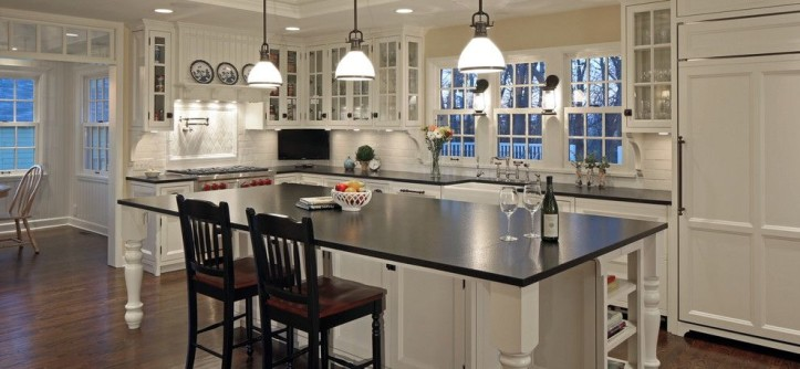 Legacy Homes Omaha for a Farmhouse Kitchen with a Built in and Project 'Thirty Four' by Cramer Kreski Designs